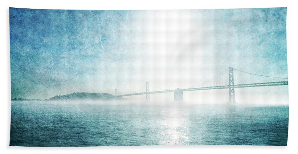 Bath Towel featuring the photograph Blue Water Bridge by Guy Crittenden