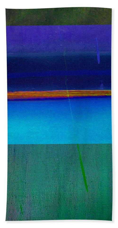 Landscape Bath Towel featuring the painting Blue Water by Charles Stuart