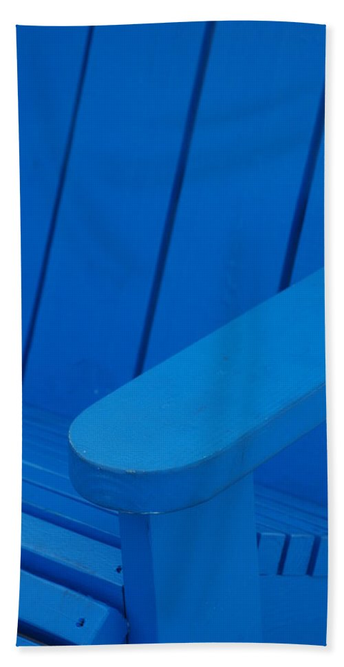 Macro Hand Towel featuring the photograph Blue Wood by Rob Hans