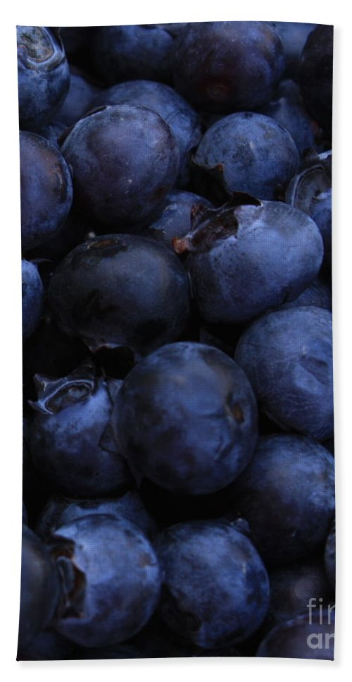 Blueberries Hand Towel featuring the photograph Blueberries Close-up - Vertical by Carol Groenen
