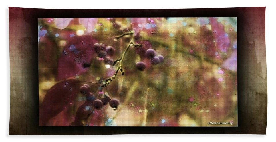 Blueberries Hand Towel featuring the photograph Blueberry Hill by Ellen Cannon