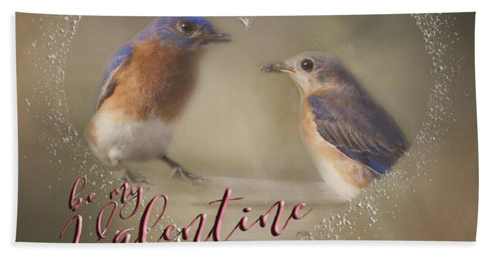 Bluebird Hand Towel featuring the photograph Bluebird Love by Pam Holdsworth