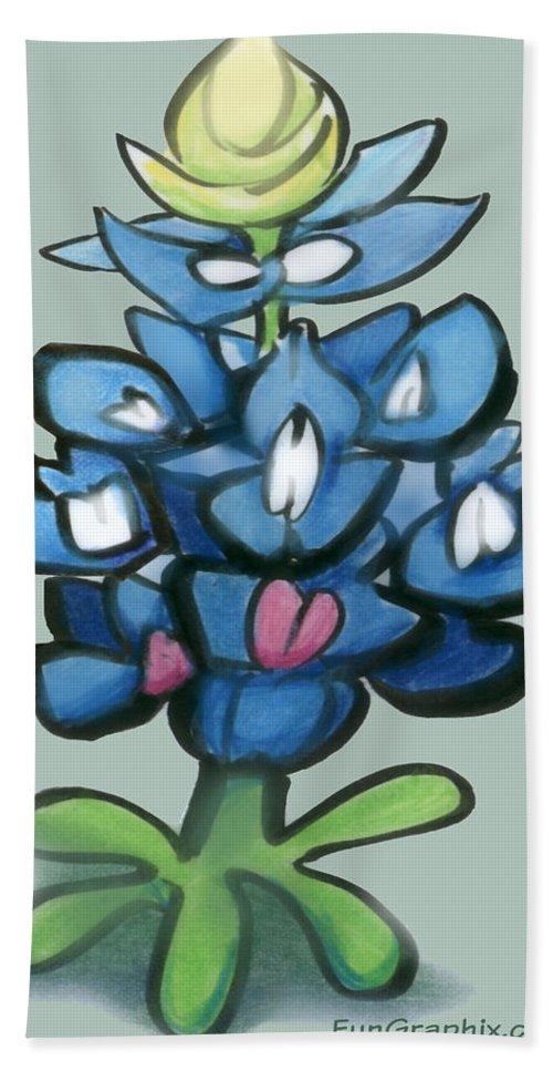 Bluebonnet Bath Sheet featuring the digital art Bluebonnet by Kevin Middleton