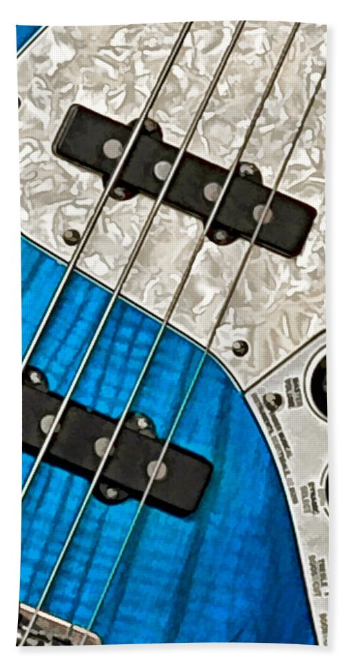 Guitar Bath Sheet featuring the photograph Blues Bass by William Jobes