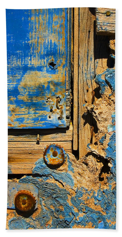 Abstract Bath Towel featuring the photograph Blues Dues by Skip Hunt