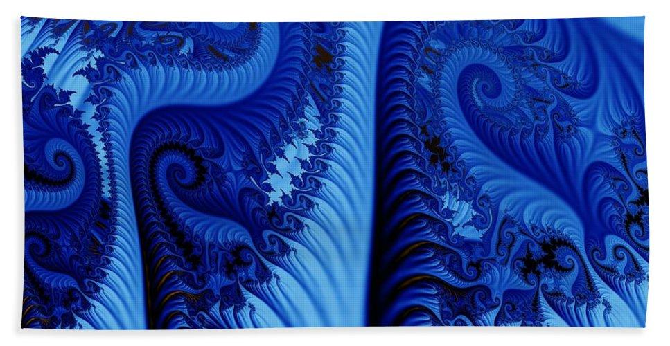 Fractal Art Bath Towel featuring the digital art Blues by Ron Bissett