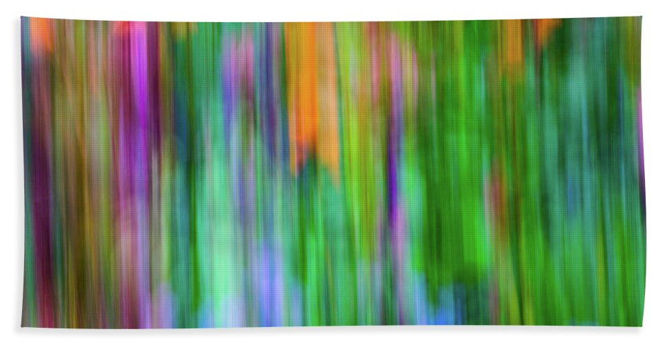 Abstract Hand Towel featuring the photograph Blurred #1 by Michael Niessen