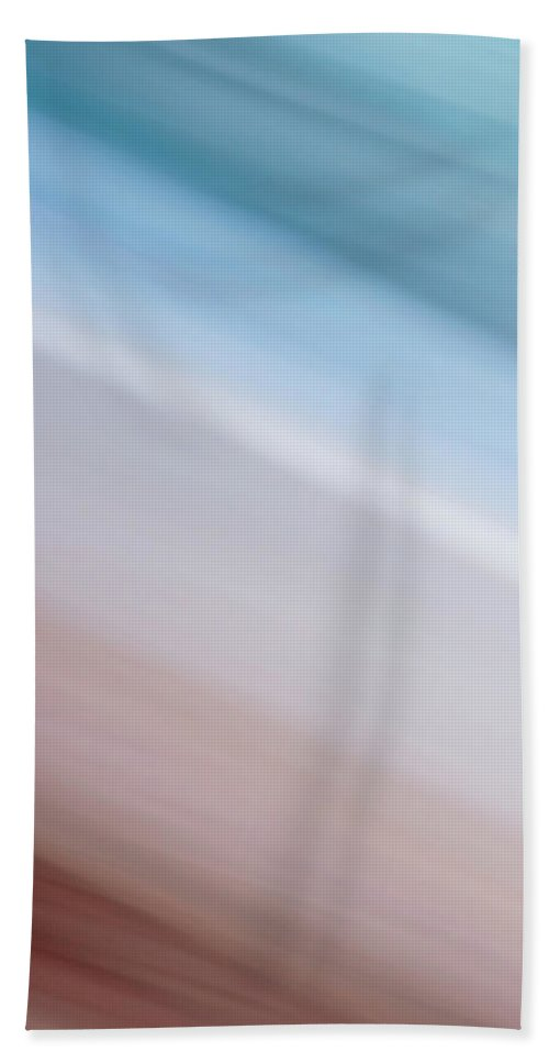 Abstract Hand Towel featuring the photograph Blurred #10 by Michael Niessen