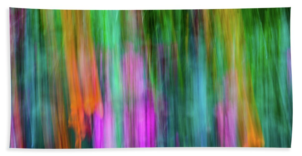 Abstract Hand Towel featuring the photograph Blurred #3 by Michael Niessen
