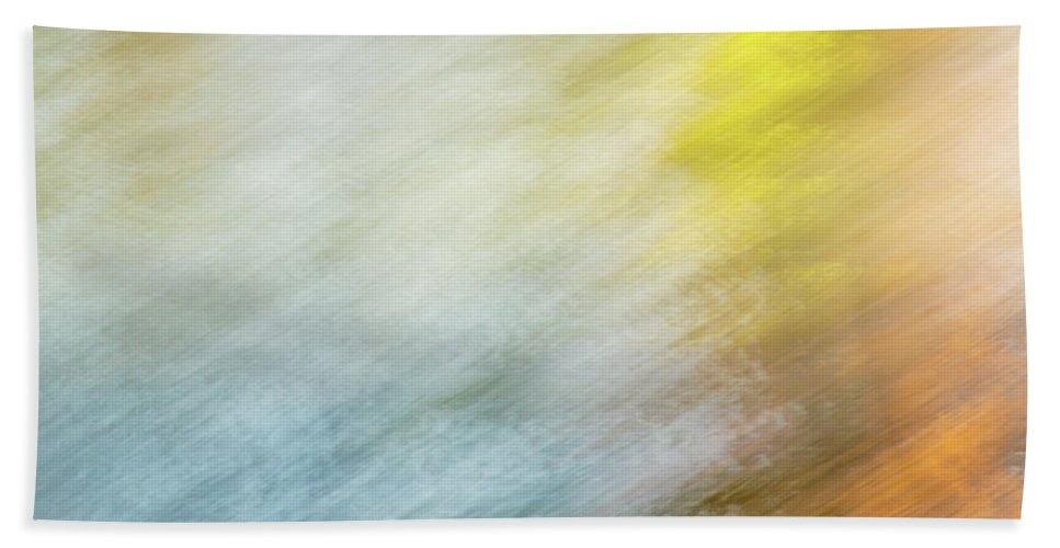Abstract Hand Towel featuring the photograph Blurred #9 by Michael Niessen