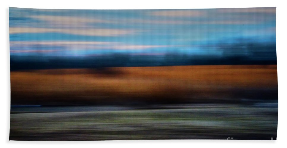 Collection Bath Sheet featuring the photograph Blurred Field by Stanton Tubb