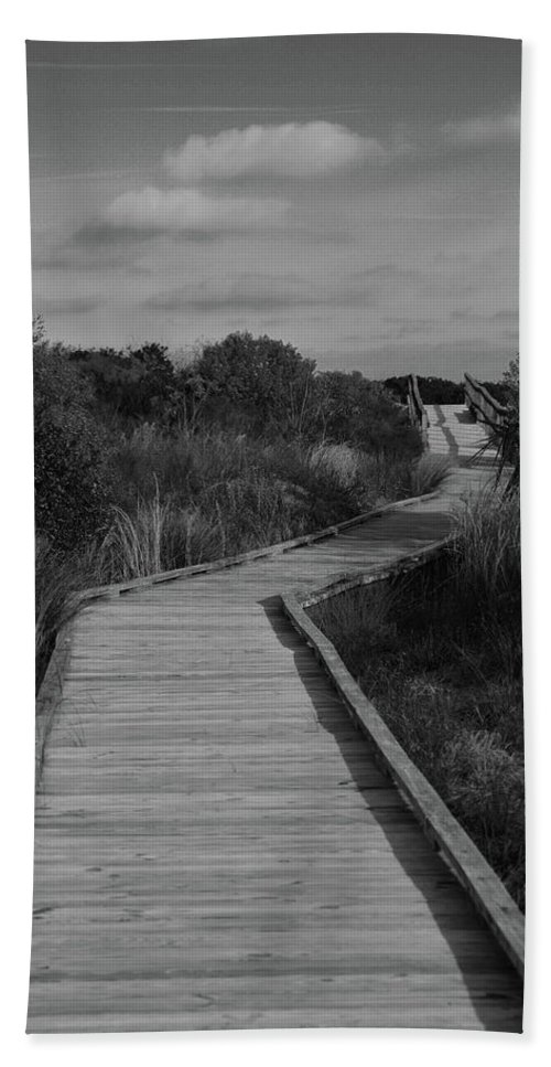 Boardwalk Bath Sheet featuring the photograph Boardwalk At Talbot Island by Spencer Studios