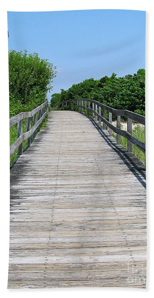 Boardwalk Hand Towel featuring the photograph Boardwalk by Colleen Kammerer