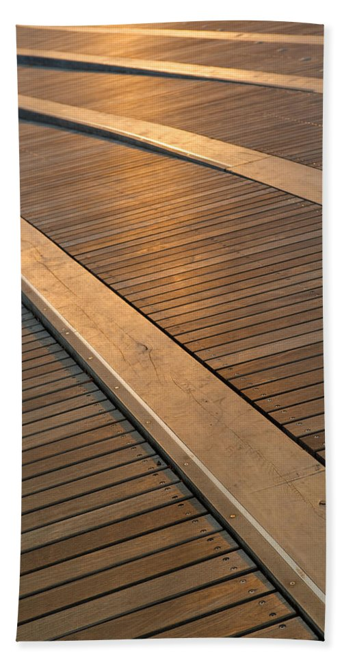 Boardwalk Bath Sheet featuring the photograph Boardwalk by Sebastian Musial