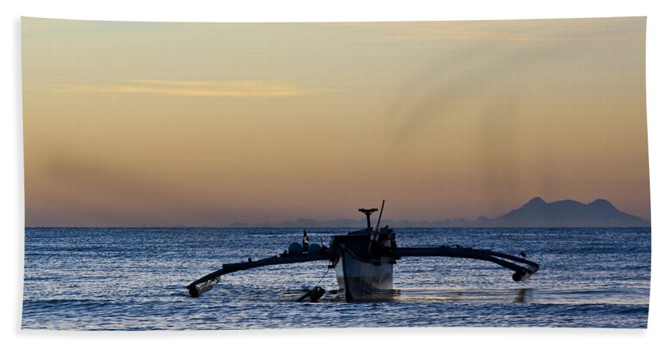 Seascape Bath Sheet featuring the photograph Boat by George Cabig