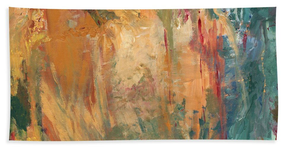 Abstract Painting Bath Sheet featuring the painting Bob by Jaime Becker