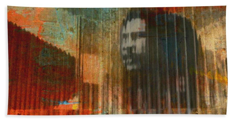 Bob Marley Abstract Ii Bath Sheet featuring the digital art Bob Marley Abstract II by Kathy M Krause