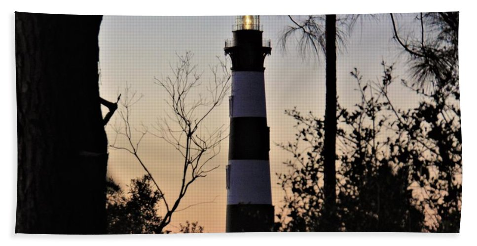 Outer Banks Bath Sheet featuring the photograph Bodie Island Trees by Sean Paul Ballentine