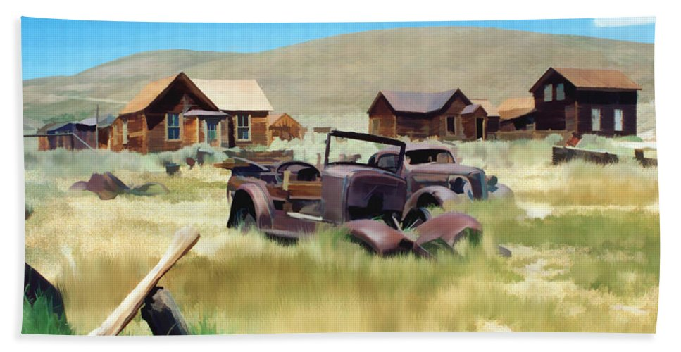 Bodie Hand Towel featuring the photograph Bodie by Kurt Van Wagner