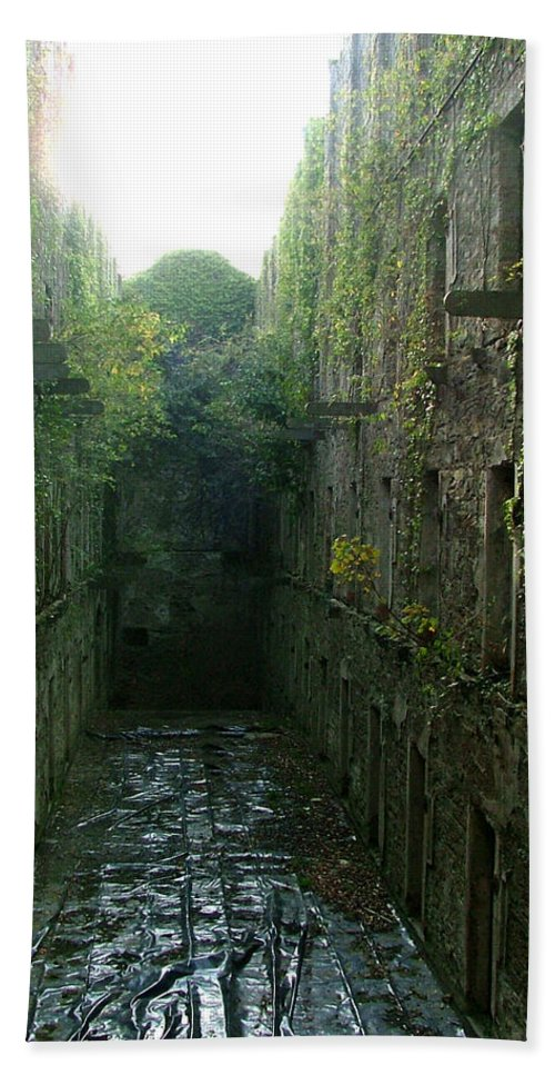 Bodmin Hand Towel featuring the photograph Bodmin Gaol by Heather Lennox
