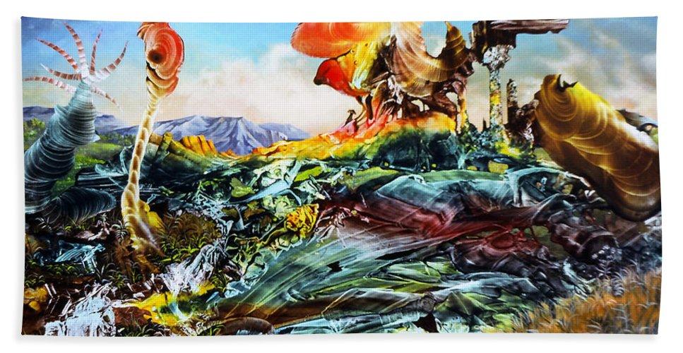 Landscape Bath Towel featuring the painting Bogomil Landscape by Otto Rapp