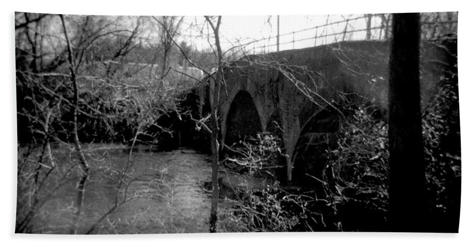 Photograph Bath Sheet featuring the photograph Boiling Springs Bridge by Jean Macaluso