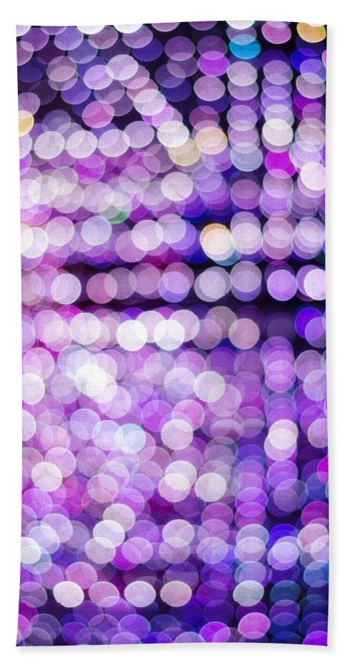 Abstract Bath Sheet featuring the photograph Bokeh by Jijo George