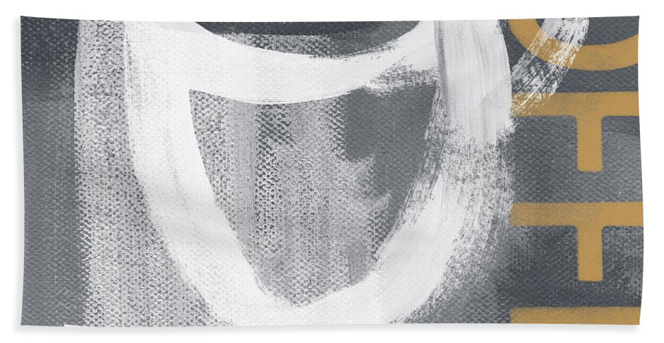 Coffee Bath Towel featuring the mixed media Bold And Strong- Art By Linda Woods by Linda Woods