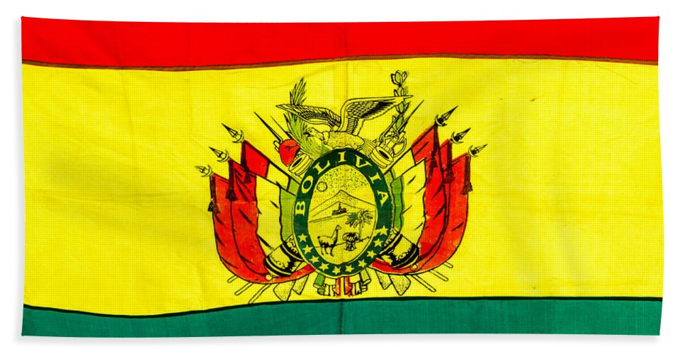 Bolivia Hand Towel featuring the photograph Bolivian Flag by Jess Kraft