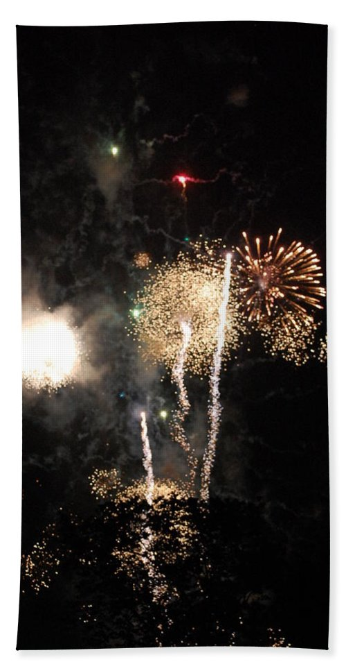 Firwworks Bath Towel featuring the photograph Bombs1 by David Lane