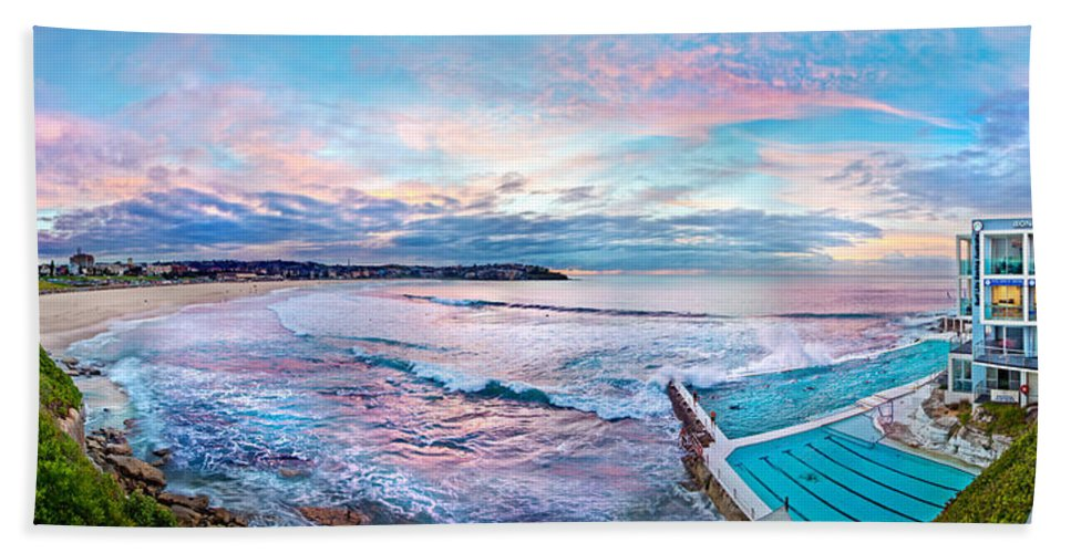 Sydney Bath Sheet featuring the photograph Bondi Beach Icebergs by Az Jackson
