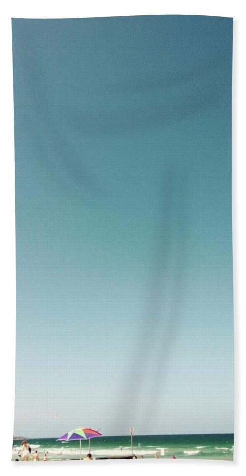 Beach Hand Towel featuring the digital art Bondi Beach by Susan Dietz