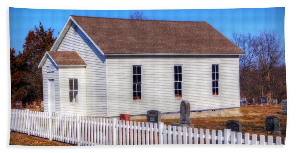 Church Bath Sheet featuring the photograph Bonds Chapel 1883 by Cricket Hackmann