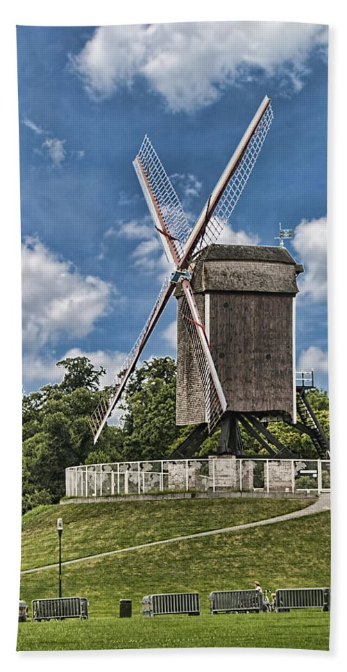 Bonne Chiere Windmill Bath Sheet featuring the photograph Bonne Chiere Windmill by Phyllis Taylor