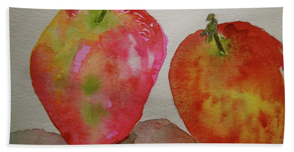 Apples Bath Sheet featuring the painting Bonnie And Clyde by Beverley Harper Tinsley