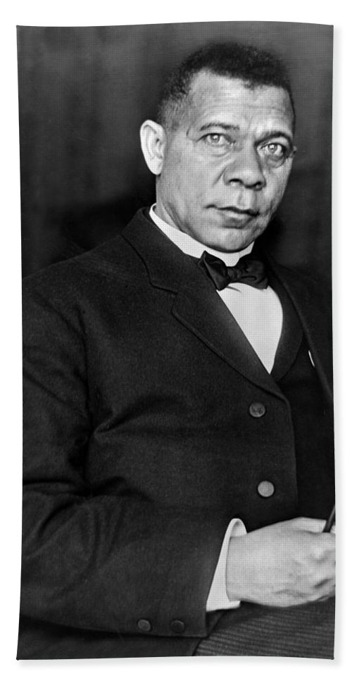 1 Person Hand Towel featuring the photograph Booker Taliaferro Washington by Waldon Fawcett