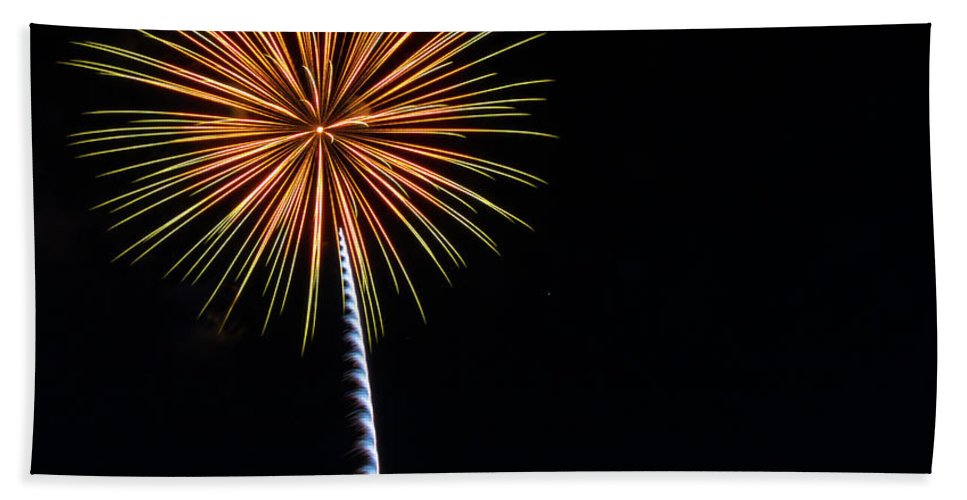 Fireworks Bath Sheet featuring the photograph Boom 17 by Andrew Zuber