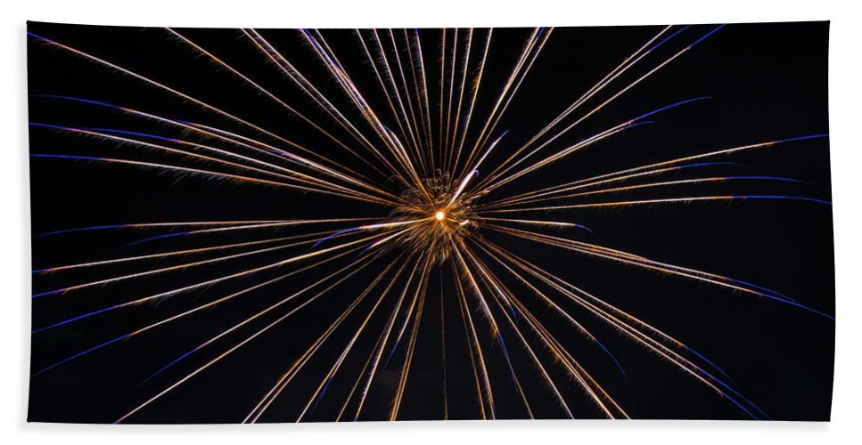 Fireworks Bath Sheet featuring the photograph Boom 6 by Andrew Zuber