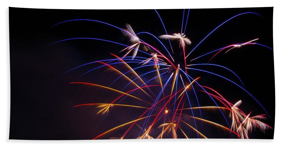 Fireworks Bath Sheet featuring the photograph Boom 8 by Andrew Zuber