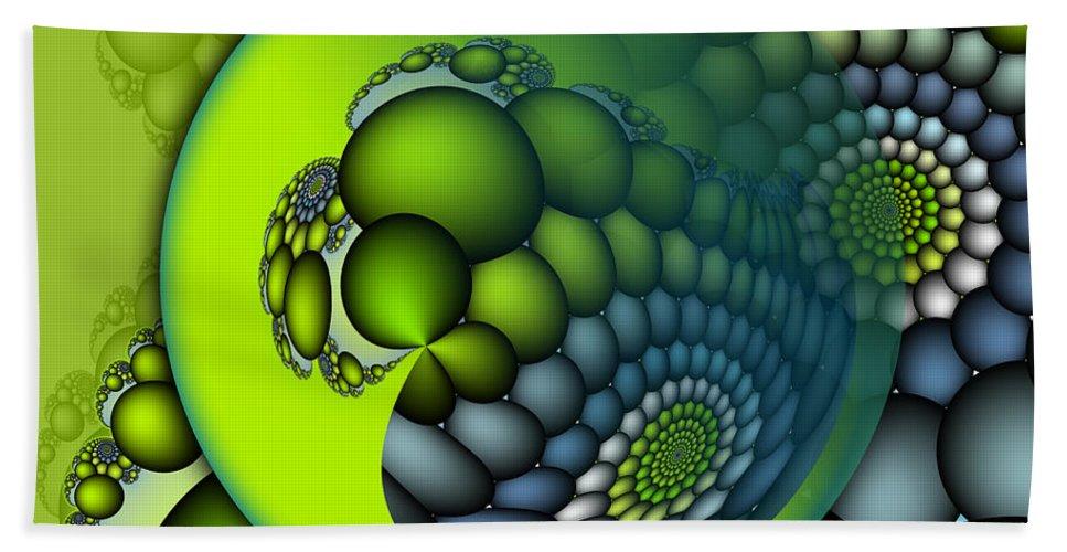 Fractal Hand Towel featuring the digital art Born To Be Green by Jutta Maria Pusl