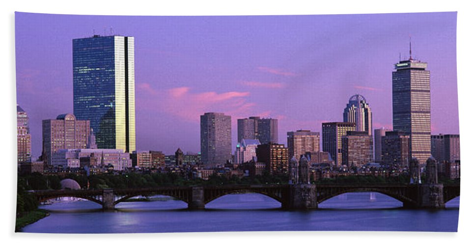Photography Bath Sheet featuring the photograph Boston Ma by Panoramic Images
