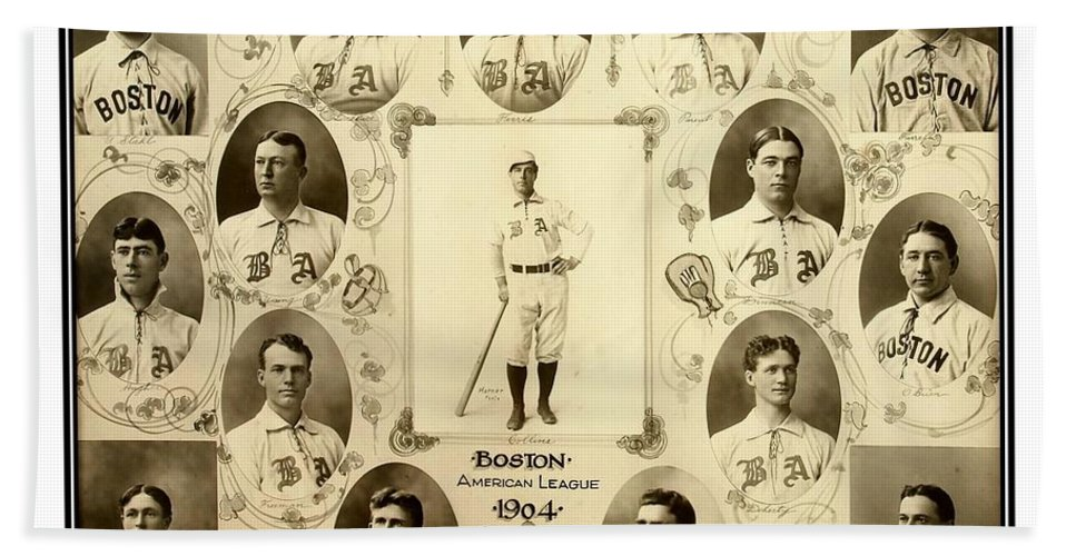 Baseball Bath Towel featuring the photograph Boston Red Sox a k a Boston Americans 1904 by Peter Ogden Gallery