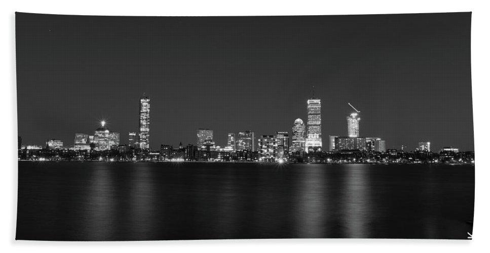 Boston Hand Towel featuring the photograph Boston Skyline by Fabio Ferreira