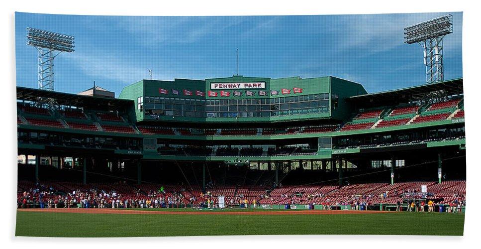 boston Red Sox Bath Sheet featuring the Boston's Gem by Paul Mangold