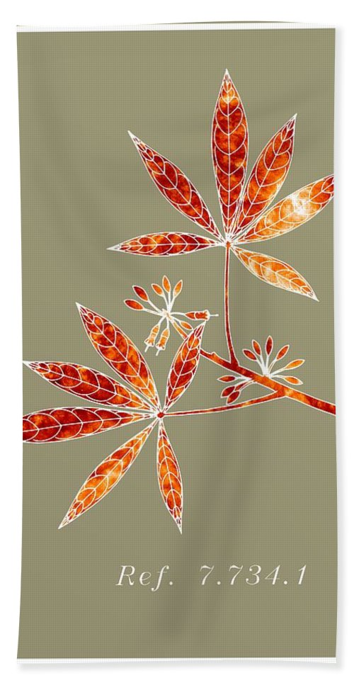 Lbotany Collection Hand Towel featuring the digital art Botanu Ref 7.734.1 by Alberto RuiZ