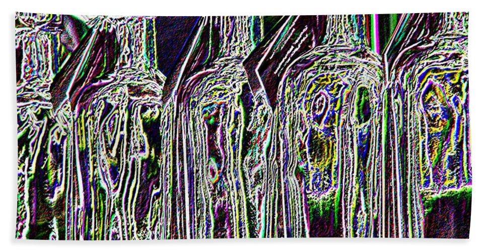 Bottles Hand Towel featuring the digital art Bottles by Tim Allen