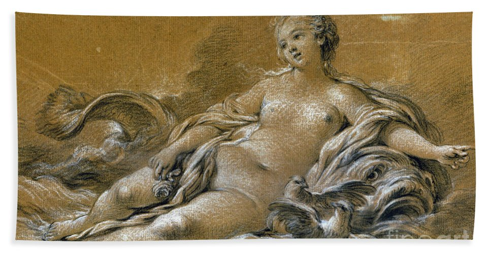 18th Century Hand Towel featuring the photograph Boucher: Venus by Granger