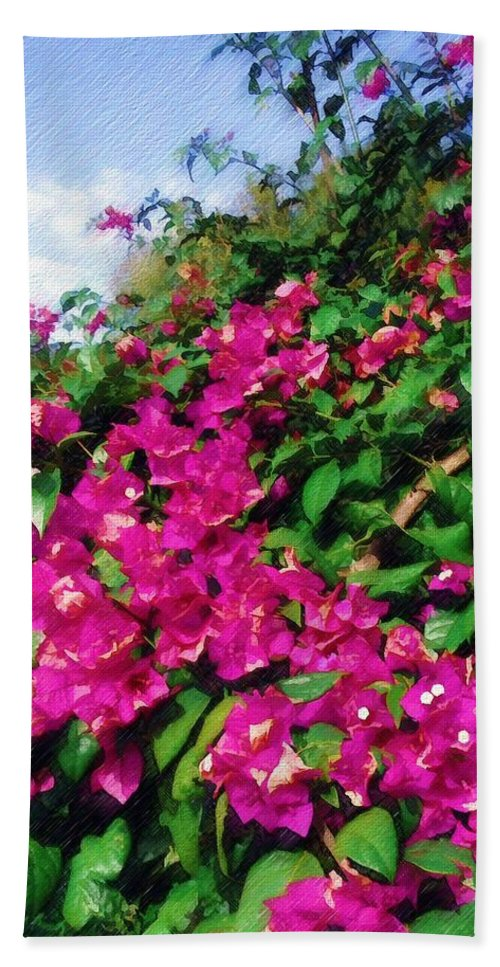 Bougainvillea Bath Sheet featuring the photograph Bougainvillea by Sandy MacGowan