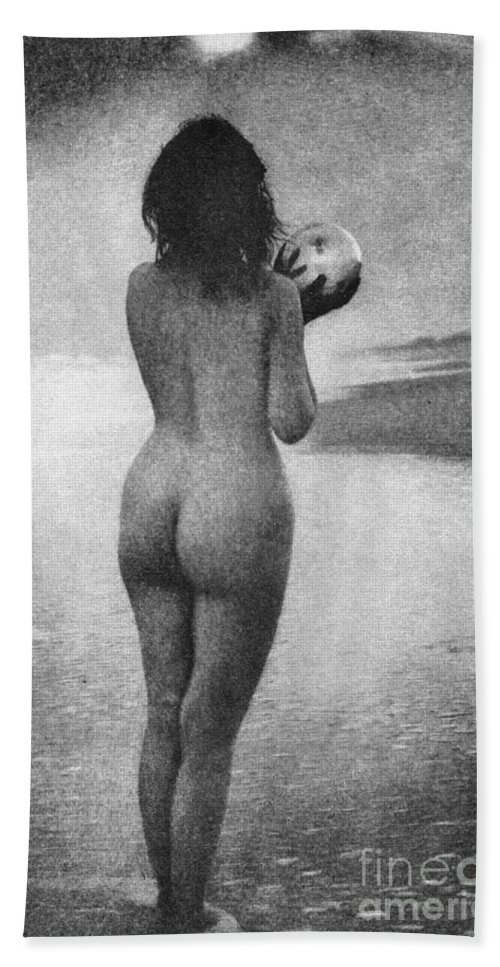 1909 Hand Towel featuring the photograph Boughton: Dawn, 1909 by Granger