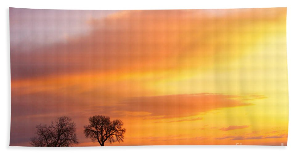 Sunrise Bath Sheet featuring the photograph Boulder County Sunrise by James BO Insogna